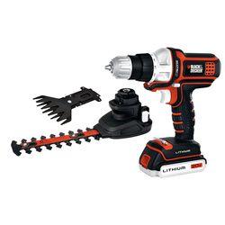 Black & Decker MATRIX™ 20V MAX* Lithium Drill/Driver, Compact Hedge Trimmer + Shear Combo Kit