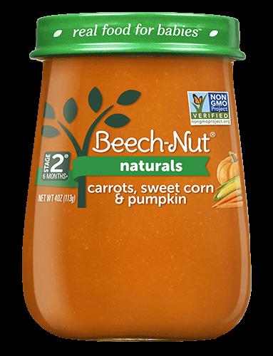 Beech-Nut naturals carrots, sweet corn & pumpkin jar