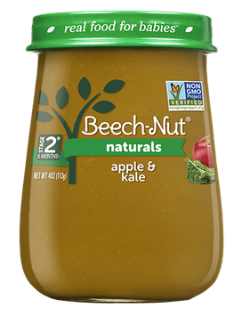 Beech-Nut naturals apple & kale jar