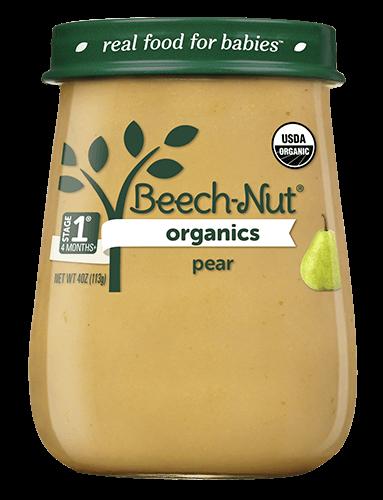 Beech-Nut organics pear jar