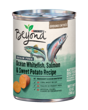 Beyond Ground Entrée Grain Free Ocean Whitefish, Salmon & Sweet Potato Recipe Wet Dog Food