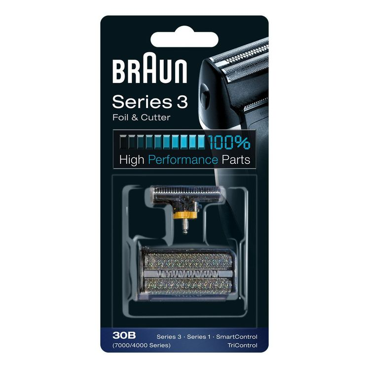 Braun Series 3 Foil and Cutter 30B replacement pack black. For Series 3 (older generation), Series 1 (older generation), TriControl.