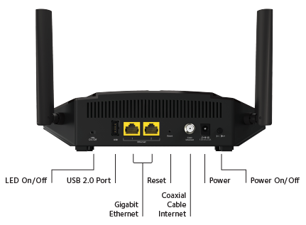 DOCSIS 3.0 High Speed WiFi Cable Modem Router