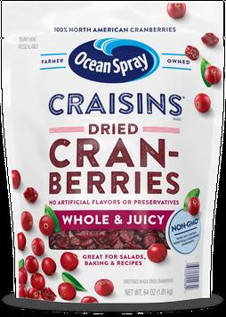 Ocean Spray Craisins® Whole & Juicy Dried Cranberries