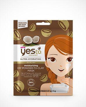 Yes To Coconut Moisturizing Diy Powder-To-Clay Mask – Single Use