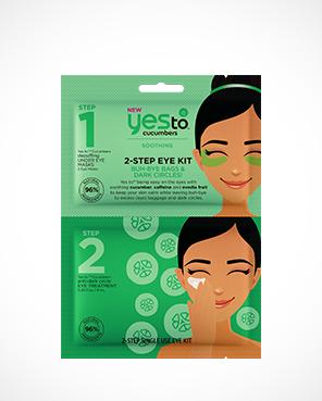 Yes To Cucumbers 2-Step Single Use Eye Kit Buh-Bye Bags &Amp; Dark Circles!