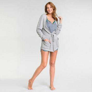 Gilet en maille tricotée gris - Soft Essential