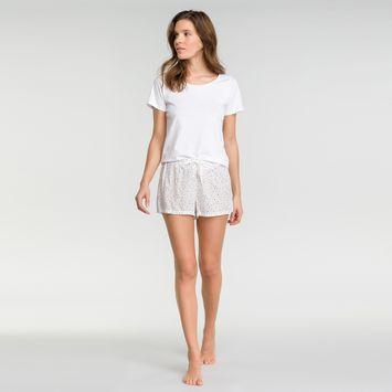 Short pyjama blanc tacheté - Fashion