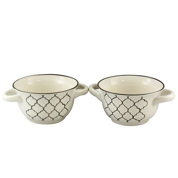 Gibson Crock Pot Mathison 2Pc Round Soup Bowl Set - White
