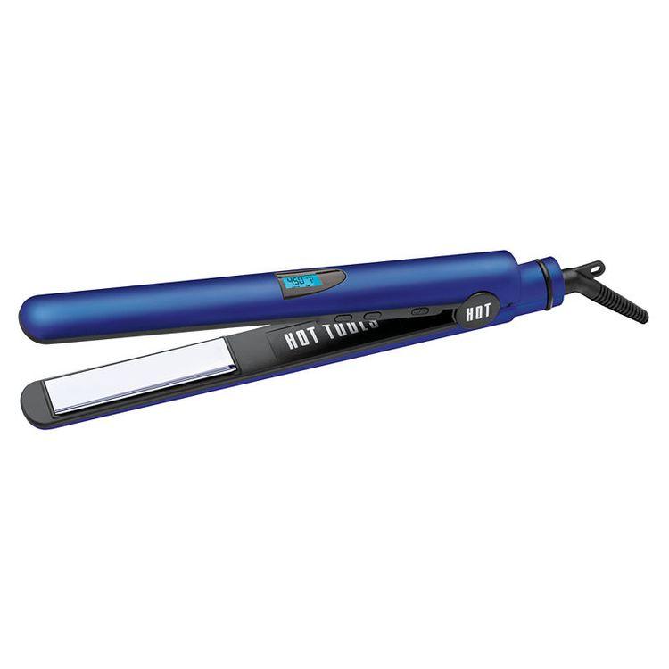 "Hot Tools Radiant Blue 1"" Digital Titanium Salon Flat Iron"