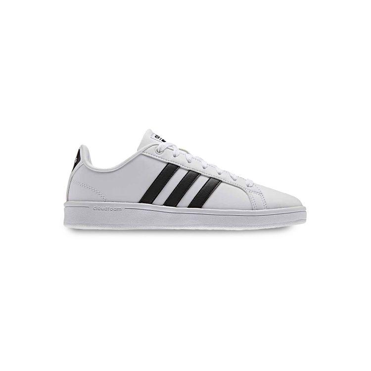 Adidas NEO Cloudfoam Advantage Stripe Women's Shoes, Size: 7, White