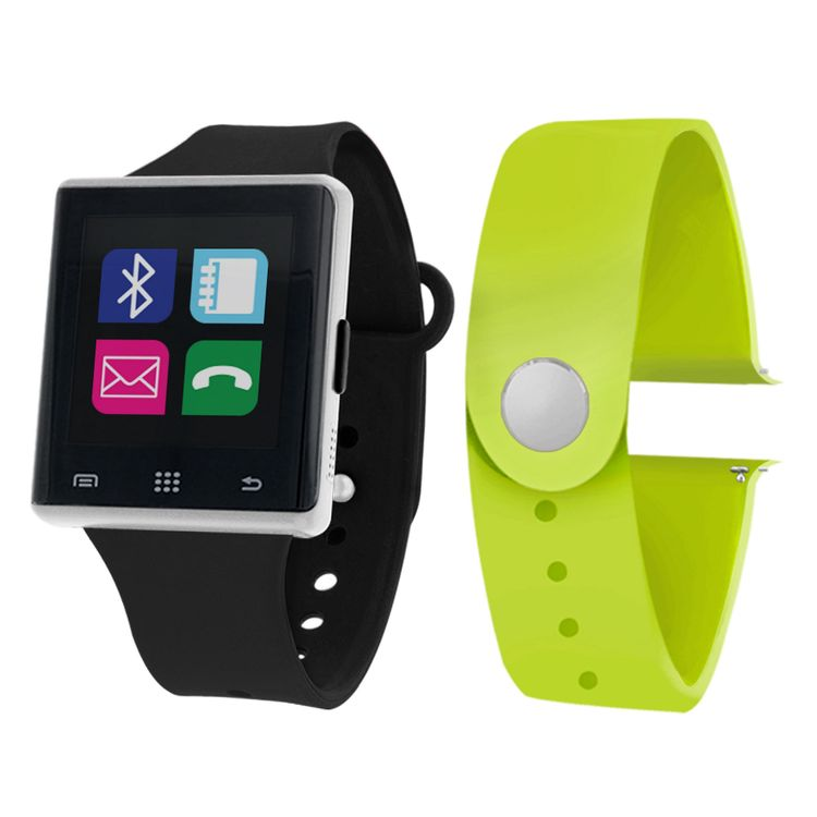 Itouch Air Air Activity Tracker & Interchangeable Band Set Black/Lime Unisex Multicolor Smart Watch-Jcp2721s724-339