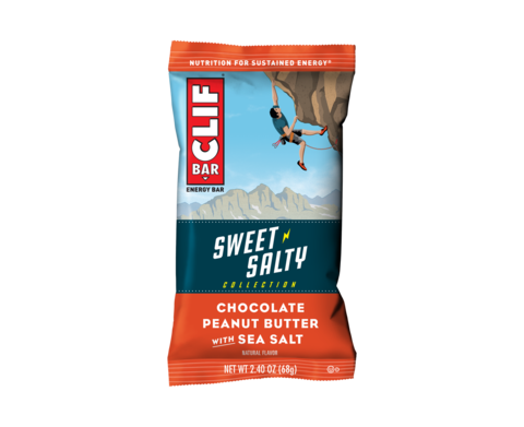 Clif 12 Bars - Sweet & Salty: Chocolate Peanut Butter with Sea Salt