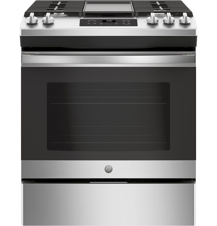 "Ge Appliances 30"" Slide-In Front Control Gas Range  JGSS66"