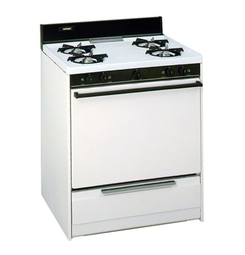 """Ge Appliances  Hotpoint® 30"""" Free-Standing Standard Clean Gas Range with Standing Pilot Ignition System RGB506PY"""