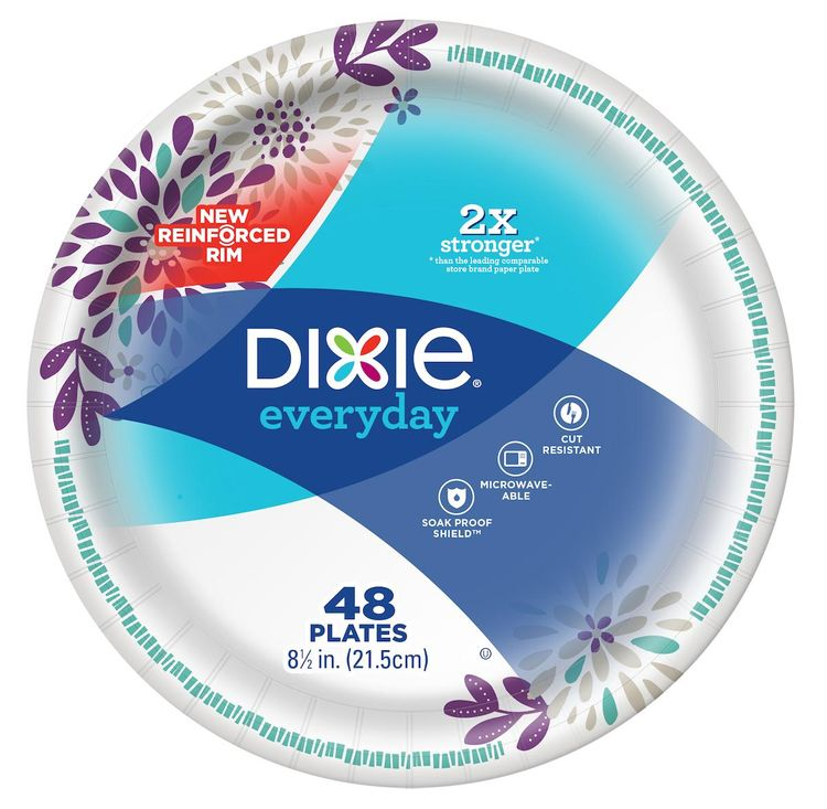 Dixie Everyday 8 1/2 Inch Paper Plate