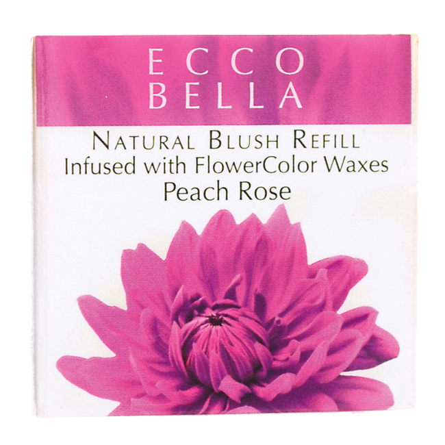 Natural Blush Refill Infused with FlowerColor - Peach Rose