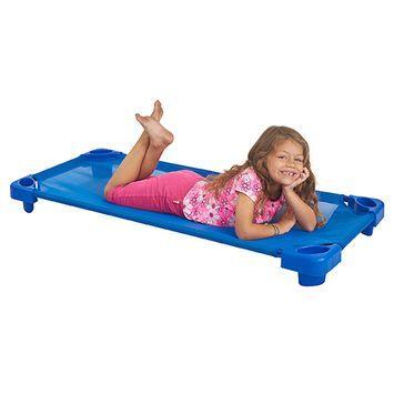 Stackable Kiddie Cot Standard Assembled - Blue