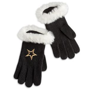 American Girl Faux-Fur Cuff Gloves for Girls