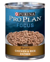 Purina Pro Plan FOCUS Puppy Chicken & Rice Entrée Classic Wet Dog Food
