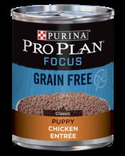 Purina Pro Plan FOCUS Grain Free Puppy Classic Chicken Entrée Wet Dog Food, 13 oz