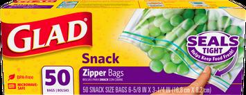 Glad ® Food Storage Zipper Snack