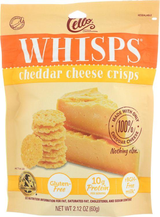 Cello KHFM00297927 Whisps Cheese Crisps Cheddar - 2.120 oz