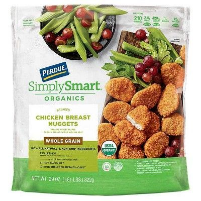 Perdue Simply Smart Organics Whole Grain Breaded Frozen Chicken Breast Nuggets - 29oz