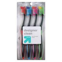 Designer Clean Toothbrush - 4ct - Up&Up™