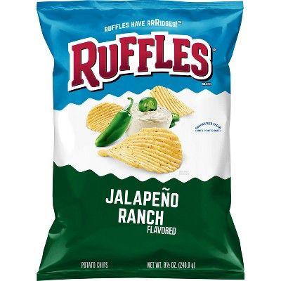 Ruffles Jalapeno Ranch Flavored Potato Chips - 8.5oz