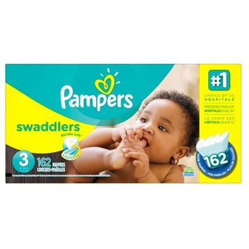 Pampers Swaddlers Diapers Economy Plus Pack Size 3 - 162ct