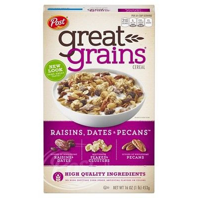 Great Grains Selects Cereal Raisins, Dates and Pecans Breakfast Cereal - 16oz - Post