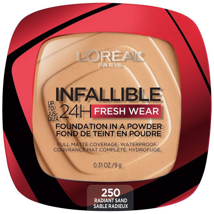 L'Oreal Paris Infallible Up to 24H Fresh Wear Foundation in a Powder - Radiant Sand - 0.31oz