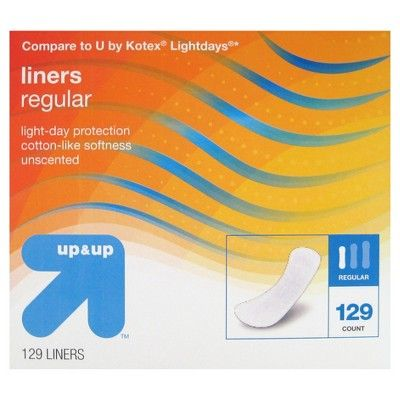 Up & Up Panty Liners - Regular Absorbency - 129ct - Up&Up