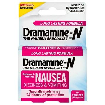 Dramamine-N Long Lasting Nausea, Dizziness & Vomiting Relief Tablets - 10ct