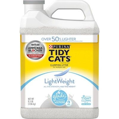 Purina Tidy Cats Lightweight Clumping Cat Litter with Glade Tough Odor Solutions - 8.5lbs