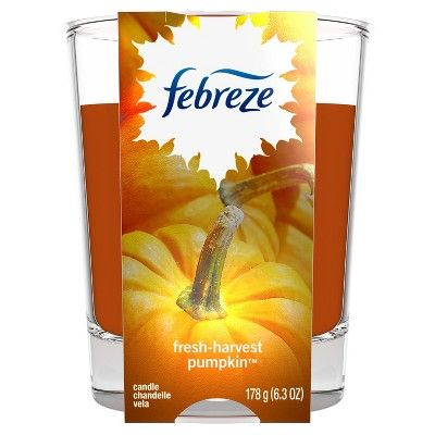 Febreze Fresh-Fall Pumpkin Scented Candle - 6.3oz