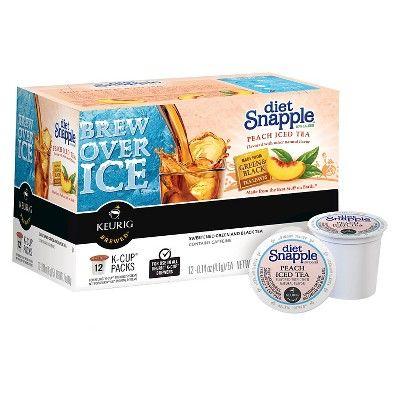 Snapple® Diet Peach Iced Tea K-Cup Pods - 12ct
