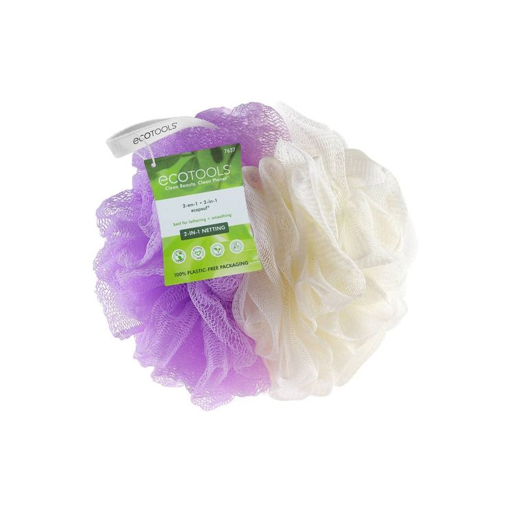 EcoTools 2-in-1 Pouf - Purple and Cream