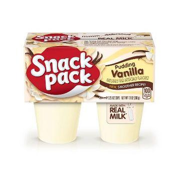 Hunt's Snack Pack Vanilla Pudding - 4pk