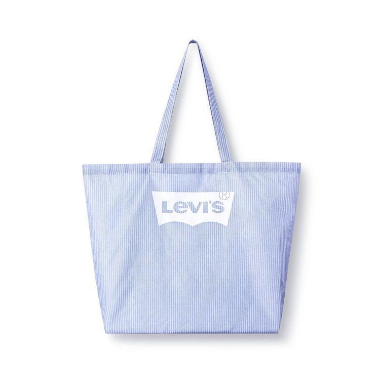 Striped Reusable Shopping Bag White/Light Blue - Levi's x Target