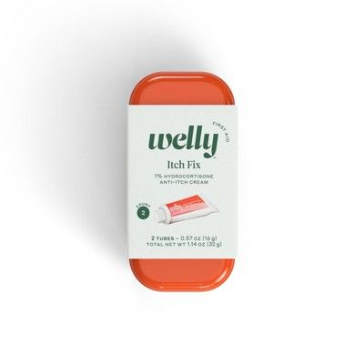 Welly Itch Fix 1% Hydrocortisone Anti-Itch Cream - 2ct/0.57oz