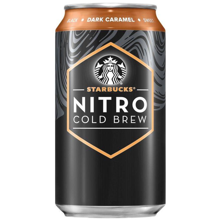 Starbucks Nitro Cold Brew Dark Caramel Premium Coffee Drink - 9.6 fl oz Bottle