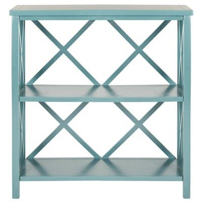 "Cava Bookcase 35.6"" Teal - Safavieh®"