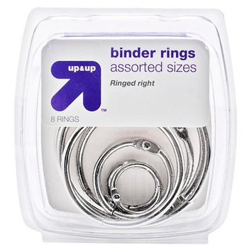 Up & Up Binder Rings 8ct - Up&Up
