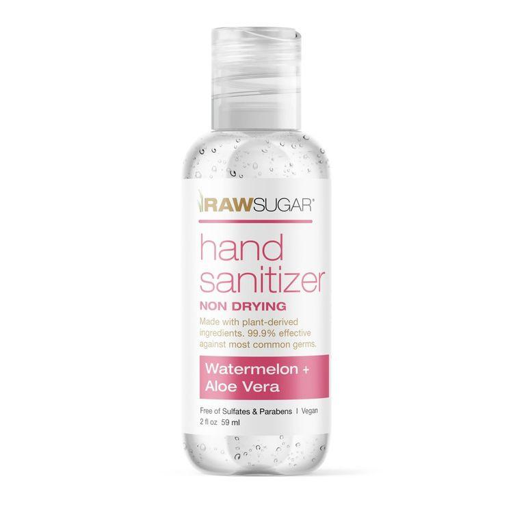 Raw Sugar Mini Hand Sanitizer Watermelon + Aloe Vera - Trial Size - 2 fl oz
