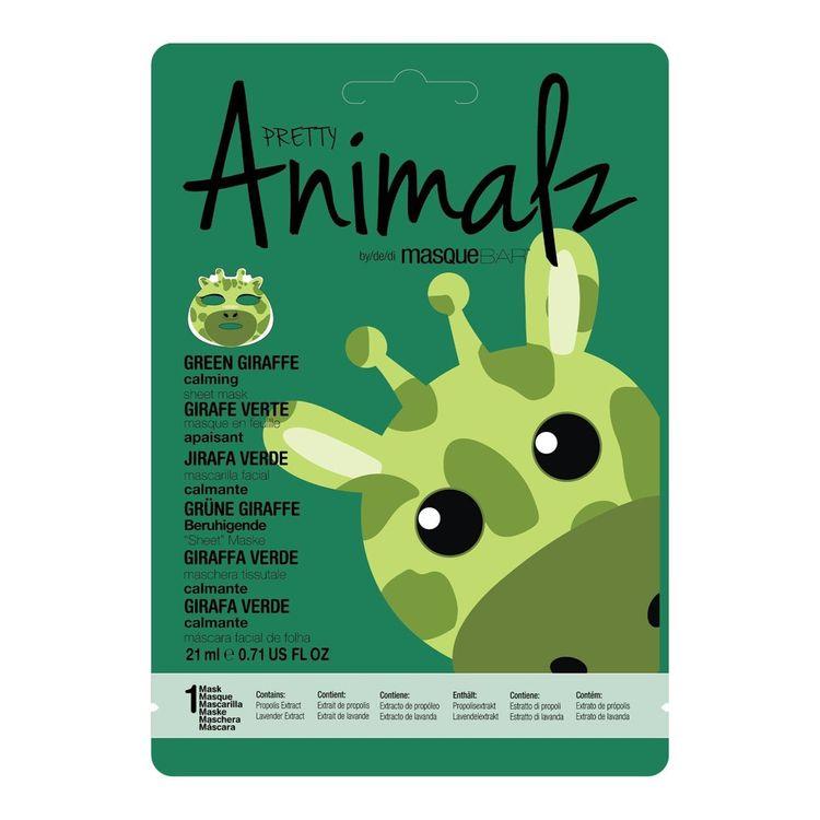 Masque Bar Pretty Animalz Green Giraffe Sheet Mask