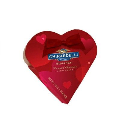 Ghirardelli Valentine's Day Premium Chocolate Assortment Heart Gift - 3.78oz