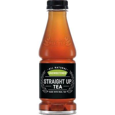 Straight Up Tea, Unsweetened Black Tea - 18.5 fl oz Glass Bottle