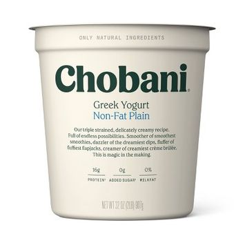 Chobani Plain Nonfat Greek Yogurt - 32oz